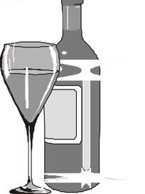 简笔画酒瓶矢量图_生活用品
