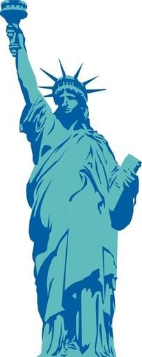 自由女神雕像矢量图_传统图案