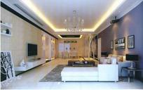 豪华唯美风格客厅装饰3D模型素材
