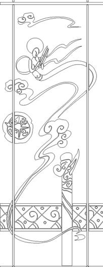 华表手绘图-方框图片 方框设计素材 第56页 红动网