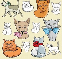 卡通小猫矢量图