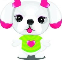 可爱的卡通小狗
