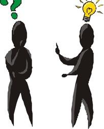 思考问题的两个黑人