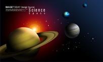 太空中行星的炫丽图片PSD素材