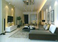 温馨典雅风格客厅装饰3D模型素材