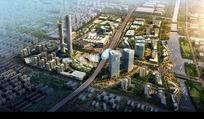 现代大气城市规划建设鸟瞰图