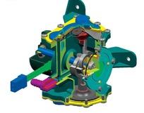 保时捷混合动力系统部件内部结构图