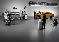 奔驰汽车碰撞实验数据测试现场