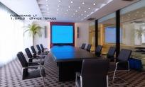 大型公议室3D效果图