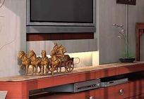 电视背景墙3D效果图