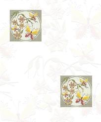 对角二方联花叶蝴蝶图片