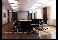 高档会议室3D效果图