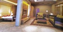 隔断式客厅卧室一体3D效果图