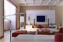 豪华时尚客厅装饰效果图3D模板素材