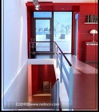 红色风情室内精装修3D效果图