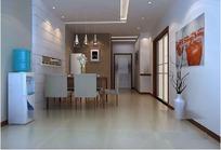 简洁时尚客厅装饰设计效果图3D模板素材