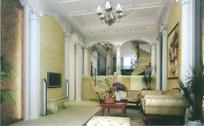 欧式客厅3D效果图