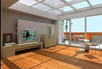 时尚透明吊顶客厅设计效果图模型素材