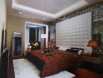 时尚唯美卧室装饰效果图3D模板素材