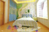 现代儿童卧室3D效果图