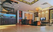 现代中式客厅3D效果图