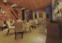 中型酒吧3D效果图