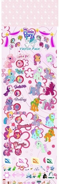 粉红背景卡通动物和花纹图案贴纸素材