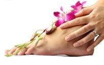 脚上的花枝