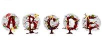 精美字母圣诞树矢量素材1