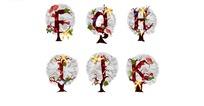 精美字母圣诞树矢量素材2