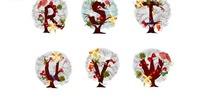 精美字母圣诞树矢量素材4