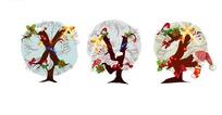 精美字母圣诞树矢量素材5