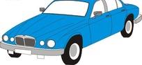 手绘汽车—蓝色汽车头部