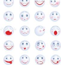 可爱卡通笑脸表情图标矢量素材
