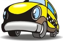 手绘放大的黄色汽车头部
