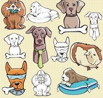 可爱卡通小狗