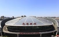 蓝天下北京南站俯拍