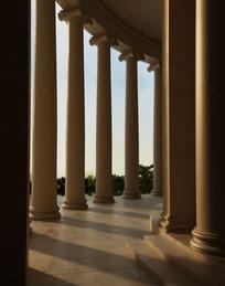 罗马式大厅柱子3D效果图