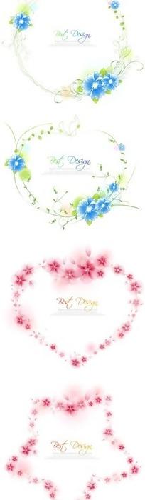 四种形状的花环