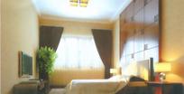 现代深色系卧室3D效果图