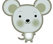 可爱的卡通小老鼠PSD素材