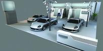 车展展厅模型效果力
