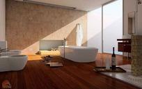 中间浴缸的豪华卫生间3dmax模型