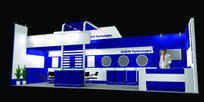 兰紫色展厅设计3D模型图