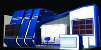 兰紫与灰展厅设计3D模型图
