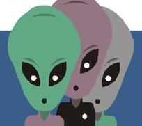 手绘外星人头部