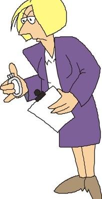 穿职业装的卡通人物图片_穿职业