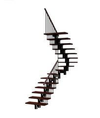 金属框架鱼骨直角转弯楼梯3dmax模型图片