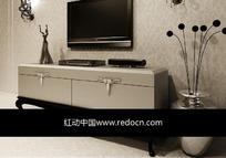 电视柜设计3D模型图