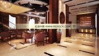 高级豪华酒吧3D效果图